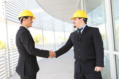 Men Architects Shaking Hands Stock Images