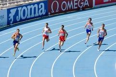 Men athletes running royalty free stock image