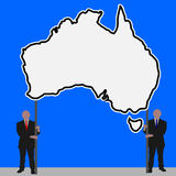 Men with Australia map sign Stock Photography