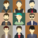 Men Avatar Flash Vector Stock Image