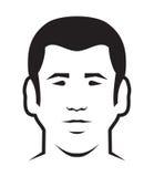 Men avatar  icon Royalty Free Stock Image