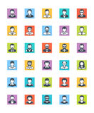 Men Avatars Icons - Square Version Royalty Free Stock Images