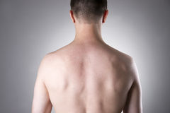 Men back close-up Stock Photo