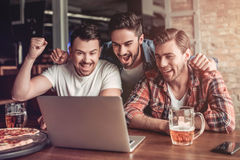 Men in bar royalty free stock photography