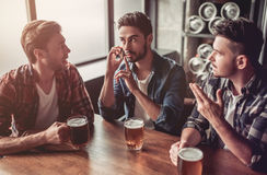 Men in bar royalty free stock images