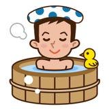 Men in bathing Royalty Free Stock Photo