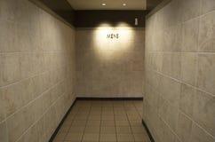 Men bathroom entrance Royalty Free Stock Image
