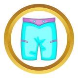 Men beach shorts vector icon Stock Image