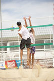 Men beach volleyball players. Italian national championship Royalty Free Stock Photo