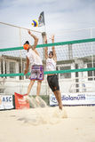 Men beach volleyball players. Italian national championship Royalty Free Stock Photography