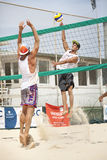 Men beach volleyball players. Italian national championship Royalty Free Stock Photos