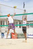Men beach volleyball players. Italian national championship Stock Photos