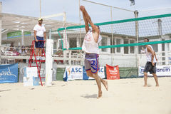 Men beach volleyball players. Italian national championship Royalty Free Stock Image