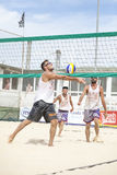 Men beach volleyball players. Italian national championship Stock Image