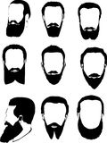 Men beard collection Stock Images