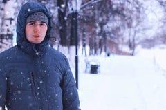 Men beard winter Stock Photography
