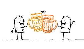 Men & beer stock image