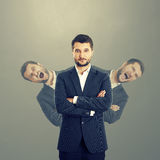 Men behind confident businessman Royalty Free Stock Photos
