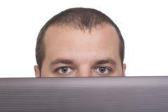 Men Behind a Laptop Stock Photos