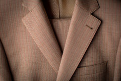Men beige jacket closeup Stock Photos