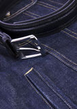 Men belt with blue jeans Stock Photography