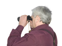 Men with binoculars Royalty Free Stock Image