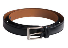 Men black belt. Illustration of Men black belt isolated on white Royalty Free Stock Image