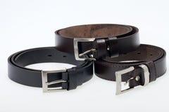 Men black belt Stock Photos
