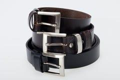 Men black belt Royalty Free Stock Images