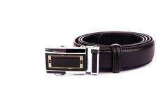 Men black belt isolated on white. Stock Photography
