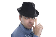 Men in black hat Royalty Free Stock Image