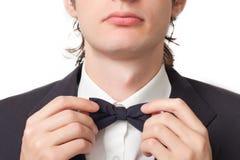 Men black necktie Stock Photography