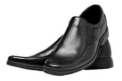 Men black shoes Royalty Free Stock Photos