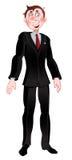 Men in black suit royalty free stock image