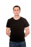 Men in black t-shirt Stock Images