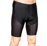 Men in black tight cycling shorts Stock Photos