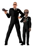 Men in black Royalty Free Stock Photography