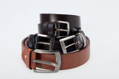 Men blackand brown belt Stock Photography