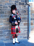 men blowing bagpipes,scotland Stock Photography