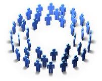 Men - Blue Circle, isolated Stock Photo
