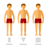 Men Body Types Royalty Free Stock Photos