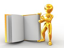Men with book. On white background. 3d Stock Images