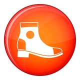 Men boot icon, flat style Stock Images