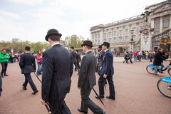 Men in Bowler Hats Royalty Free Stock Photos