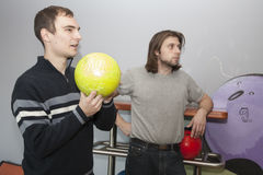 Men by bowling Stock Images