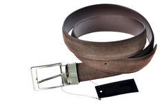 Men Brown Leather Belt Stock Photography