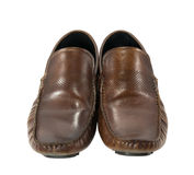 Men brown shoe Stock Photography