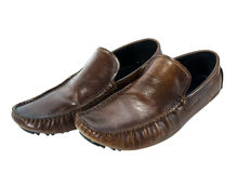 Men brown shoe Royalty Free Stock Images