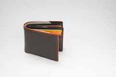 Men brown wallet. In white background Stock Images