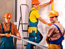 Men in builder uniform. Royalty Free Stock Images